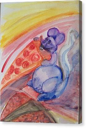Cheese Stuffed Crust Canvas Print by Jennifer K Machado