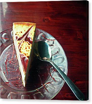 Canvas Print featuring the photograph Cheesecake by Michael McKenzie