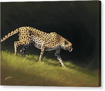 Cheetah Descent Canvas Print