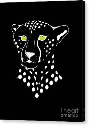 Cheetah Inverted Canvas Print