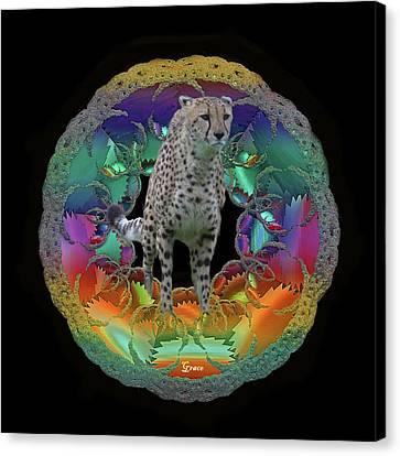 Cheetah Canvas Print by Julie Grace