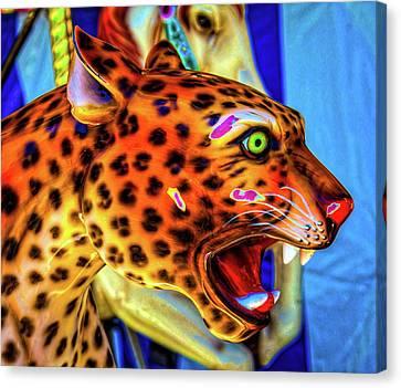 Cheetah Ride Portrait Canvas Print