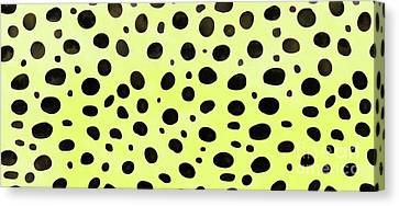 Cheetah Skin Mug Canvas Print by Edward Fielding