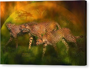 Animal Canvas Print - Cheetah World by Carol Cavalaris