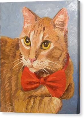 Cheetoh Cat Portrait Canvas Print by Alice Leggett
