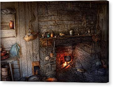 Chef - Kitchen - Home For The Holidays  Canvas Print by Mike Savad