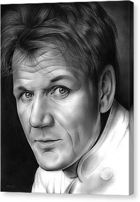 Gordon Canvas Print - Chef Ramsay by Greg Joens