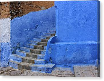 Canvas Print featuring the photograph Chefchaouen by Ramona Johnston