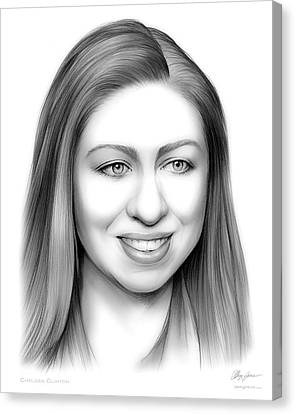 Democrats Canvas Print - Chelsea Clinton by Greg Joens