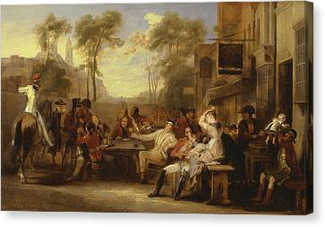 Chelsea Pensioners Receiving The Gazette Announcing The Battle Of Waterloo Canvas Print by David Wilkie