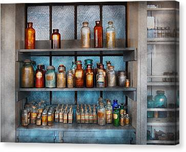 Chemist - My First Chemistry Set  Canvas Print by Mike Savad