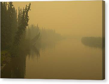 Canvas Print featuring the photograph Chena River by Gary Lengyel