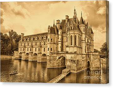 Chenonceau Canvas Print by Nigel Fletcher-Jones