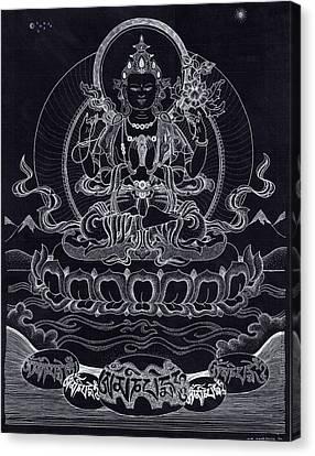 Chenrezig/ Avalokiteshvara Canvas Print by Berty Sieverding