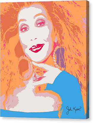 Cher Canvas Print by John Keaton