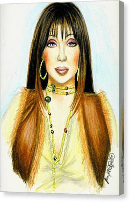 Cher Canvas Print by Scarlett Royal