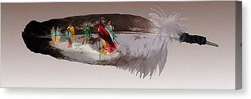 Cherokee By Blood Canvas Print by John Guthrie