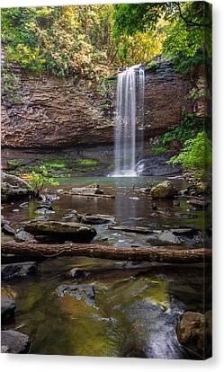 Fall Scenes Canvas Print - Cherokee Falls - Cloudland State Park Georgia by Brian Harig