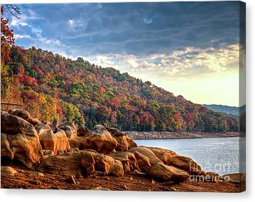 Canvas Print featuring the photograph Cherokee Lake Color II by Douglas Stucky