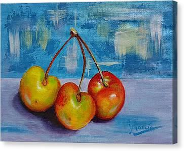 Cherries Trio Canvas Print