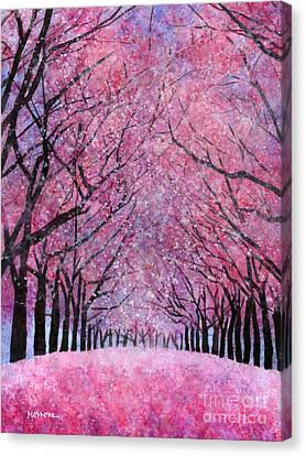 Canvas Print featuring the painting Cherry Blast by Hailey E Herrera