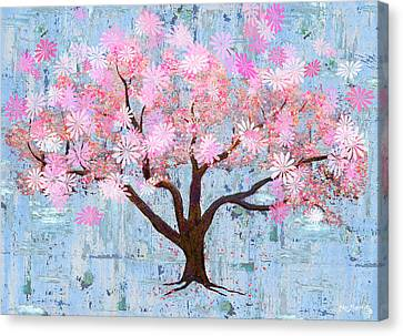 Cherry Blossom Flowering Art Canvas Print