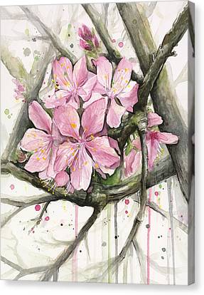 Cherry Blossom Canvas Print by Olga Shvartsur
