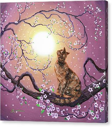 Cherry Blossoms Canvas Print - Cherry Blossom Waltz  by Laura Iverson