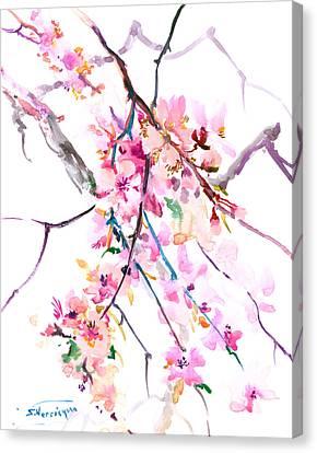 Cherry Blossom, Washington Dc Canvas Print by Suren Nersisyan