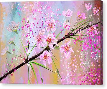 Cherry Blossoms Art Canvas Print by Lourry Legarde