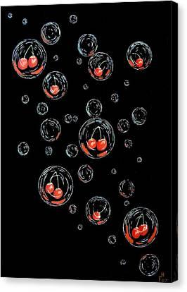 Cherry-bubs Canvas Print
