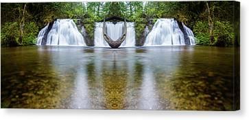 Beautiful Creek Canvas Print - Cherry Creek Falls Reflection by Pelo Blanco Photo