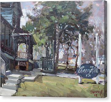 Cherry Hill Pub Canvas Print by Ylli Haruni