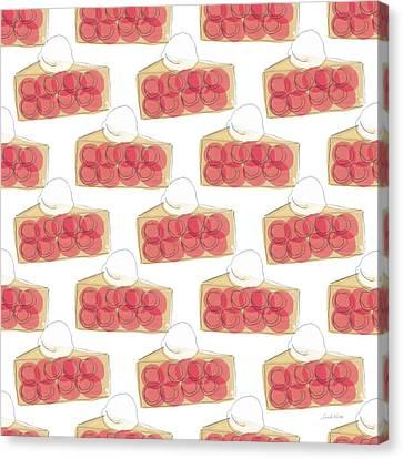 Pie Canvas Print - Cherry Pie- Art By Linda Woods by Linda Woods