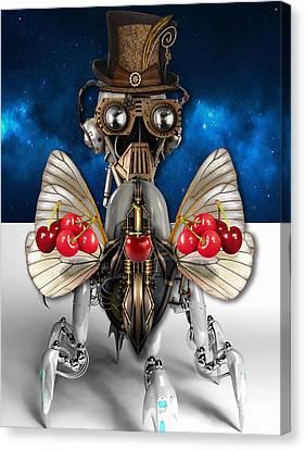 Cherry Robot 5 Art Canvas Print by Marvin Blaine