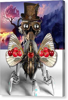 Flying Canvas Print - Cherry Robot 6 Art by Marvin Blaine
