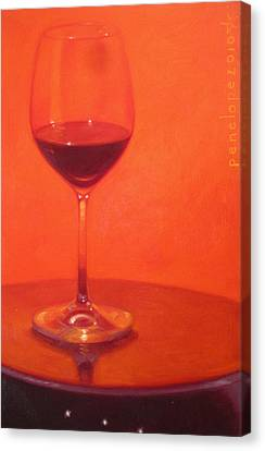 Wine Reflection Art Canvas Print - Cherry Spice by Penelope Moore
