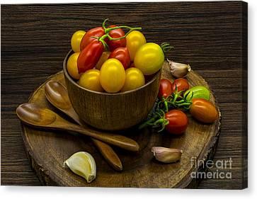 Cherry Tomatoes Still Life Canvas Print