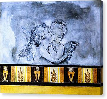 Canvas Print featuring the photograph Cherub Friendship by Marion McCristall