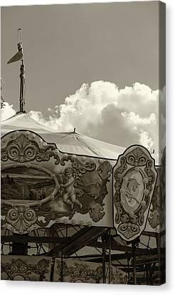 Cherub In The Clouds Canvas Print