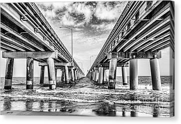 Chesapeake Bay Bridge - Monochrome Canvas Print