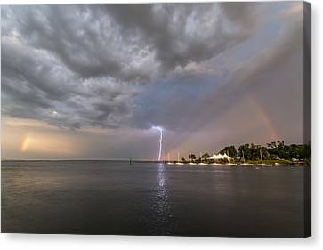 Chesapeake Bay Rainbow Lighting Canvas Print