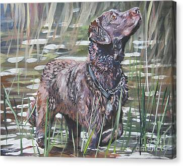 Chesapeake Bay Retriever Bird Dog Canvas Print by Lee Ann Shepard