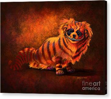Cheshire Canine Canvas Print