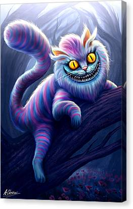 Cheshire Cat Canvas Print by Anthony Christou