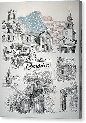 Cheshire Historical Canvas Print by Tony Ruggiero