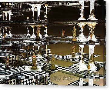 Chess Anyone Canvas Print by Melissa Messick