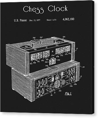 Electronic Canvas Print - Chess Clock Patent by Dan Sproul