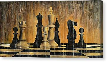 Chess Canvas Print by Dimitra Papageorgiou