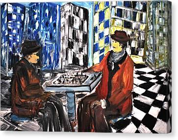 Chess Mania Canvas Print